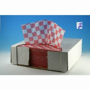 "McNairn Packaging 12"" X 12"" Red Check Dry Wax Sheets, 2,000 Sheets (FOR-3991)"