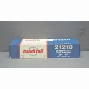 "Hfa 12"" X 10-3/4"" Interfolded Foil - 12 Boxes 200 Sheets Per Box (12/200), 2400/Case (FOR-4371)"