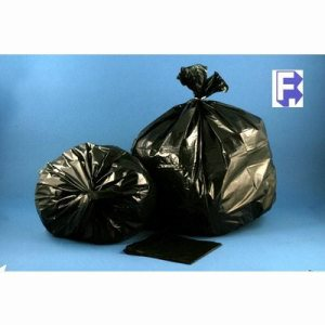 "Aluf Plastics 43"" X 47"" Black Extra Heavy Co-Ex Liner - 56 Gallon Co-Extruded Liner, 100/Case (FOR-4392)"