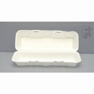 Genpak X-Large Hoagie Foam w/ Hinged Lid - 200 Hoagie Containers (FOR-4513)