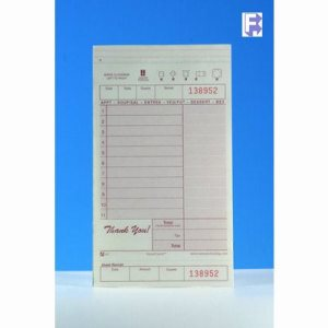 National Checking Triplicated Guest Check, Loose, 2000 Checks (FOR-4547)