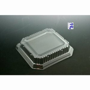 "Genpak 9"" Square Dome Lid - Fits Sq09 (2/100), 200/Case (FOR-4637)"