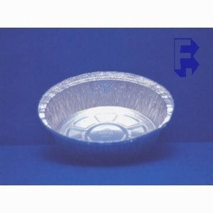 "Hfa 7"" Round Aluminum Pan - 24 Oz. Capacity 1-15/32 Deep - Lid #4769/4693, 500/Case (FOR-6729)"