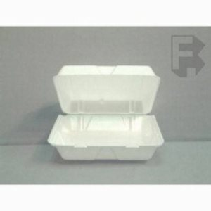 Dart Large Foam 1 Compartment Takeout Containers - 200 Containers (FOR-4882)