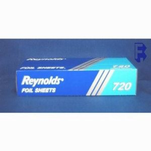 "Pactiv 12"" X 10-3/4"" Interfolded Aluminum Foil, 2400 Sheets (FOR-4918)"