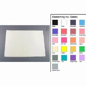 "Converting Inc White Placemat 12/50 - 14.5"" X 10"" Packaged Placemat White (12/50), 600/Case (FOR-1272)"