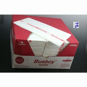 "Cascades PRO Busboy Antimicrobial Foodservce Towel - 12.25"" X 24"" White W/Red Logo, 150/Case (FOR-4979)"