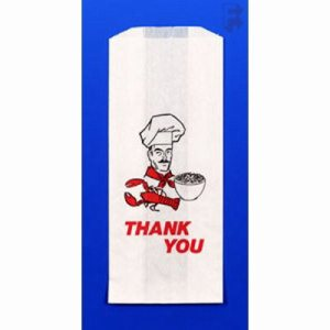 "Fischer Paper Products Thank You Doggie Bag - 5"" X 3"" X 12"", 500/Case (FOR-5627)"
