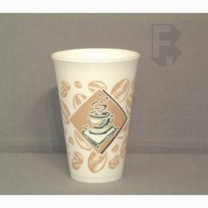 Dart 16 Oz. Cafe G Design Foam Cups - Use 16 Series Lid - 1,000 Cups (FOR-5963)