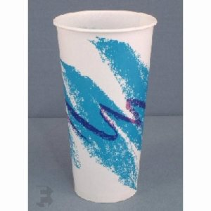 Solo 22 Oz. Waxed Paper Cold Cups - 1,000 Cups (FOR-2373)