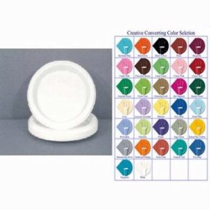 "Converting Inc White 10-1/4"" Plastic Plate - White - Retail Pack (12/20), 240/Case (FOR-6568)"