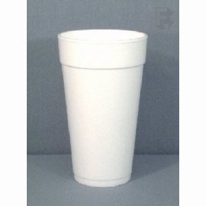 Dart 16 Oz. White Foam Cups - 1,000 Cups (FOR-7155)