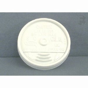 Dart Container Dart White Sip Thru Lid - Fits 8J8 - 8J8H (10/100) (FOR-7186)