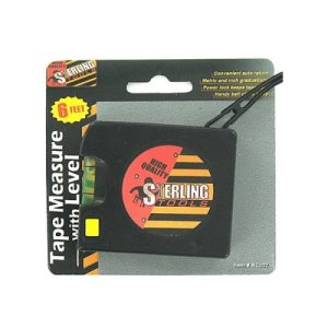 Sterling Tape measure with level, 24/Pack (KOLE-AC027)
