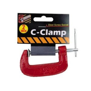 Bulk Buys 2 inch c clamp, 12/Pack (KOLE-HB809)