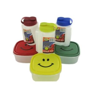 Storage Essentials Happy Face Lunch Kit, 24/Pack (KOLE-HT733)