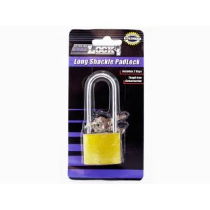 Sterling Iron Long Shackle Padlock with 3 Keys, 24/Pack (KOLE-LL200)