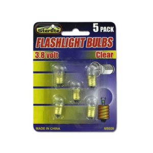 Sterling Flashlight bulbs, 24/Pack (KOLE-MS026)