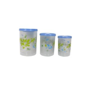 Bulk Buys Decorative storage containers, pack of 3, 1/Pack (KOLE-UU167)