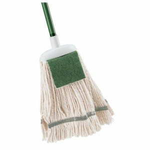Libman 12 oz. Cotton Wet Mop with Scrub Pad, 6 Complete Mops (LIB-00121)