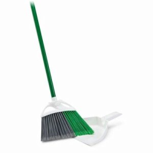 "Libman Precision Angle Broom with 10"" Dustpan, 4 Complete Sets (LIB-00206)"