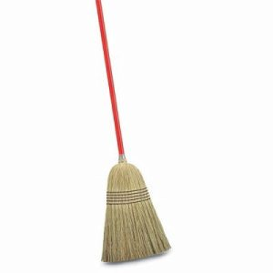 Libman Janitor Corn Broom, Steel Handle, 6 Brooms (LIB-00502)