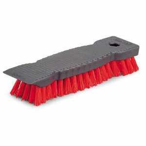 "Libman 9"" Scrub Brush, Red Polymer Fibers, 6 Brushes (LIB-00513)"