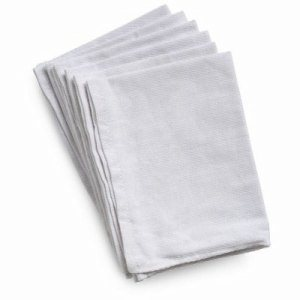 Libman Glass Cleaning Towels, Cotton, White, 72 Towels (LIB-00592)