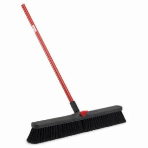 "Libman 24"" Smooth Surface Push Broom, 1""x 60"" Steel Handle, 4 Brooms (LIB-00801)"
