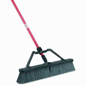 "Libman Rough Surface 24"" Push Broom, 3 Complete Brooms (LIB-00825)"