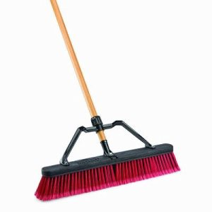 "Libman Multi-Surface 24"" Industrial Push Broom, 4 Brooms (LIB-0827G)"