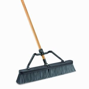 "Libman Rough Surface 24"" Industrial Push Broom, 4 Brooms (LIB-0829G)"