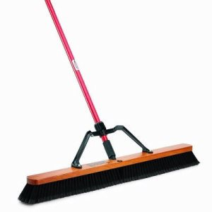 "Libman 36"" Smooth Surface Heavy Duty Push Broom, 3 Complete Brooms (LIB-00850)"