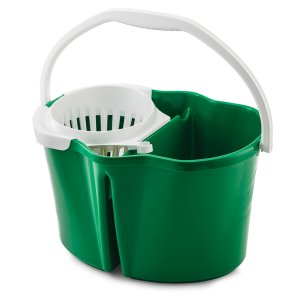 Libman 4 Gallon Clean & Rinse Bucket with Wringer, Green, 3 Buckets (LIB-02112)