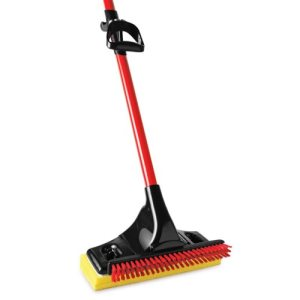Libman Big Gator Mop, Scrub Brush, Pull Back Handle Grip, 4 Mops (LIB-03958)