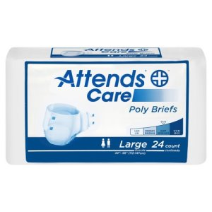Attends® Care Incontinence Brief, White, Large, 72/CS (633843_CS)