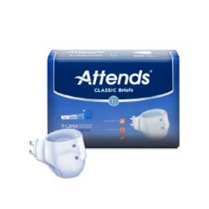 Attends® Classic Incontinence Brief, White, X-Large, 96/CS (826534_CS)