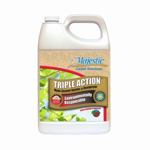 Majestic I-74 Triple Action Multi-Enzyme Spotter & Deodorizer, Cherry Almond, 2.5 Gallon Bottles, 2 per case (I74-25MN)