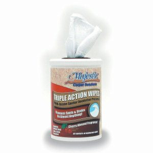 Majestic Triple Action Wipes ,Cherry Almond, 2 containers, 30 wipes (I74-T2MN)