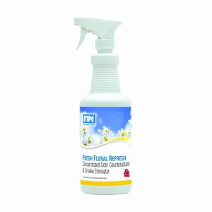 FRESH FLORAL REFRESH Concentrated Odor Counteractant & Smoke Eliminator, 1 Quart Bottle (REF-1QMN)