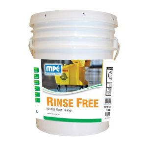 Rinse Free Neutral Floor Cleaner, 5 Gallon Pail (RIN-05MN)