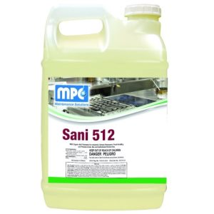SANI 512 Sanitizer Concentrated Food Service Sanitizer, 1 Gallon Containers, 4 per case (SAN-14MN)
