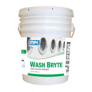WASH BRYTE Liquid Laundry Detergent, 5 Gallon Pail (WAS-05MN)