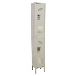 "Omcan Products 2-Tier Locker, DWH 18"" x 12"" x 78"",  Painted Steel, Each (13126)"