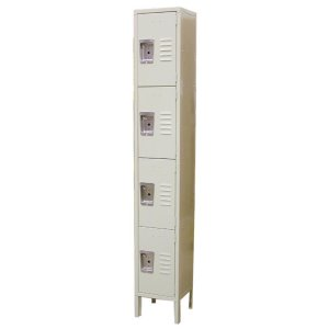 "Omcan Products 4-Tier Locker, DWH 18"" x 12"" x 78"",  Painted Steel, Each (13130)"