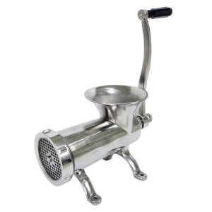 Omcan Products Manual Meat Grinder #32, Stainless Steel, Each (44420)