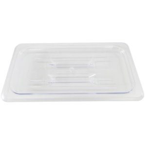 Omcan Products Polycarbonate 1/3 Cover for Food Pan, Clear, Solid, Each (80023)