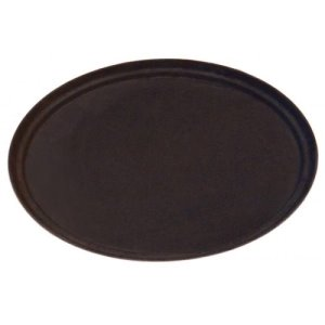 "Omcan Non-Slip Service Trays Oval 26""/ 660Mm X 559Mm Brown  (80108)"