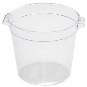 Omcan 4 Qt Polycarbonate Round Food Storage Container, Clear, Each (80171)