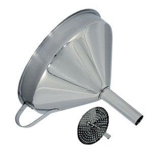 "Omcan Products 5"" Wide Mouth Funnel, Removable Strainer, Each (80415)"